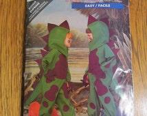 EASY Dinosaur / Godzilla Costume - Children's Sizes (2 - 6X) - UNCUT Vintage Sewing Pattern Butterick 5798