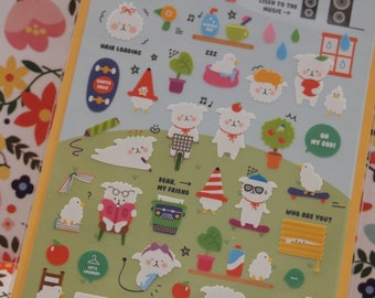 Lovely Sheep / Goat Sticker (1 sheet)