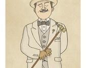 Hercule Poirot - Illustration Print