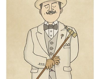 Hercule Poirot - Illustration Art Print