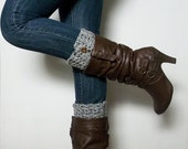 crocheted boot cuff with buttons