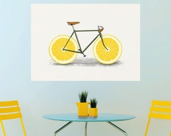 Lemon Bicycle Wall Sticker Decal – Zest by Florent Bodart