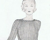 Beautiful Vogue 1930's Silk Jumper Knitting Pattern (T248)