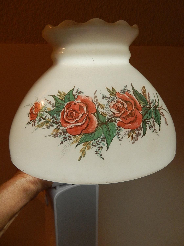 vintage hand painted lamp shade milk by vintagetreasuresrus. Black Bedroom Furniture Sets. Home Design Ideas
