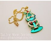 MADE to ORDER Stallion Rêve Pegasus Orb Sailor Moon Inspired Fanart Acrylic Necklace for Mahou Kei, Magical Girl Lovers, or Cute Style