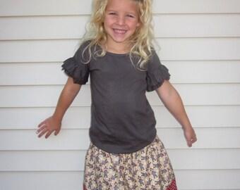 Sock Monkey Twirl Skirt  6 12 18 2T 3T 4T 5 6 7/8