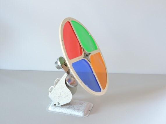 Vintage 1950 S Christmas Tree Color Wheel Mell Mfg