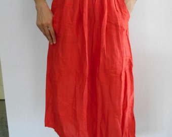 90s red midi/maxi skirt, 30% OFF