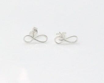 Tiny Infinity Earrings - Everlasting Love Earrings - Figure Eight Earrings