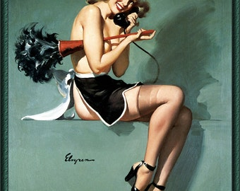 Vintage Pin-Up Girl by Gil Elvgren ~ Housekeeper ~ NEW 8x10 Art Print Reproduction