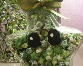 Lucky Luma Green Origami Star Jar