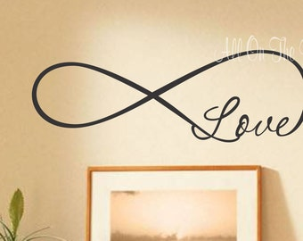 Love Infinity Wall Decal Family Home Decor Bedroom Vinyl Lettering Forever Symbol Loop Eternity Symbol
