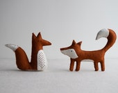 Alphonsus & Freya Fox sewing pattern – DIY embroidery sewing pattern for woodland animals softies playset