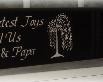 nana and papa wood sign our greatest joys call us nana and papa photo frame sign custom sign sign sayings grandparents sign board