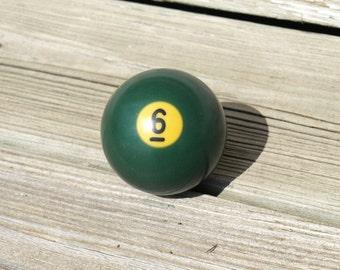 Vintage Billiard Ball - Green Number 6