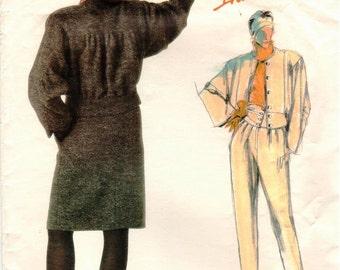 Vintage Uncut ADRI Vogue Individualist Pattern 1622 - Misses Jacket, Skirt & Pants - Size 8