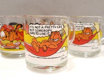 4 McDonalds Garfield Mugs, set of four