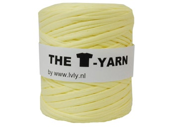 The t-shirt yarn 120-135 yards, 100% recycled cotton tricot yarn, yellow 44