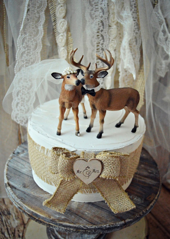 buck and doe wedding cake toppers doe and buck cake topper deer wedding cake by morganthecreator 12203