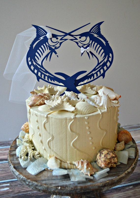 Sailfish Marlin Fish Sport Fishing Wedding Cake