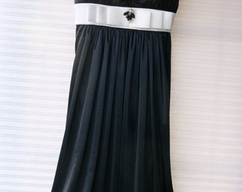 black short party dress size small