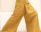 Thai Fisherman Pants- Kona Cotton- Grellow
