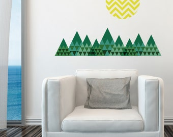 Mountains Removable Wall Sticker | LSB0096WHT-MBZ