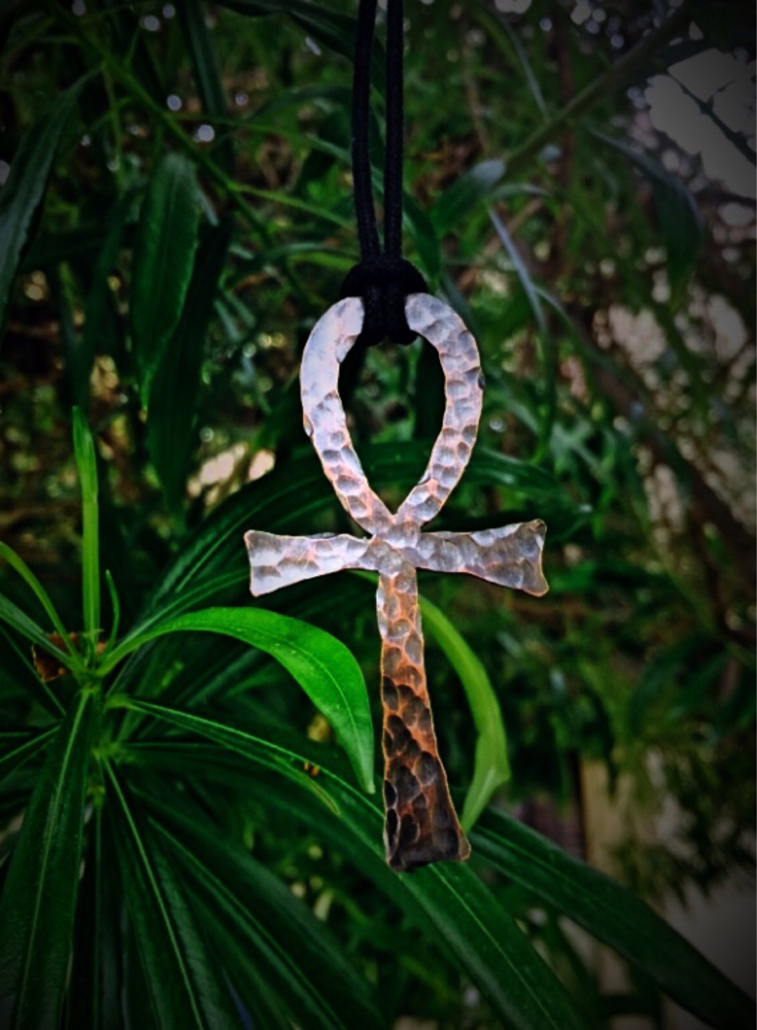 copper ankh pendant adjustable necklace amulet by