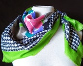 Vintage 80s Limited Xpress Neon Scarf