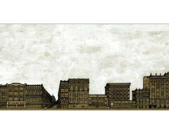 Illustration of West 4th Street - Euclid Ave  - Cleveland, OH