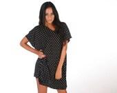 t-shirt Dress, little black Dress, plus size Dress, Rockabilly Dress, Pin Up Dress, Polka Dot Dress, Dress UK Size 6-18/US Size 2 - 14