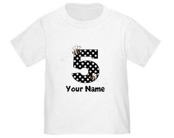 Bumble Bee Personalized Birthday Shirt - ANY AGE
