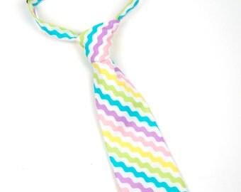 Easter necktie,  pastel necktie, toddler easter tie, baby easter tie, easter church tie, little boys tie, toddler tie, baby tie, pastel