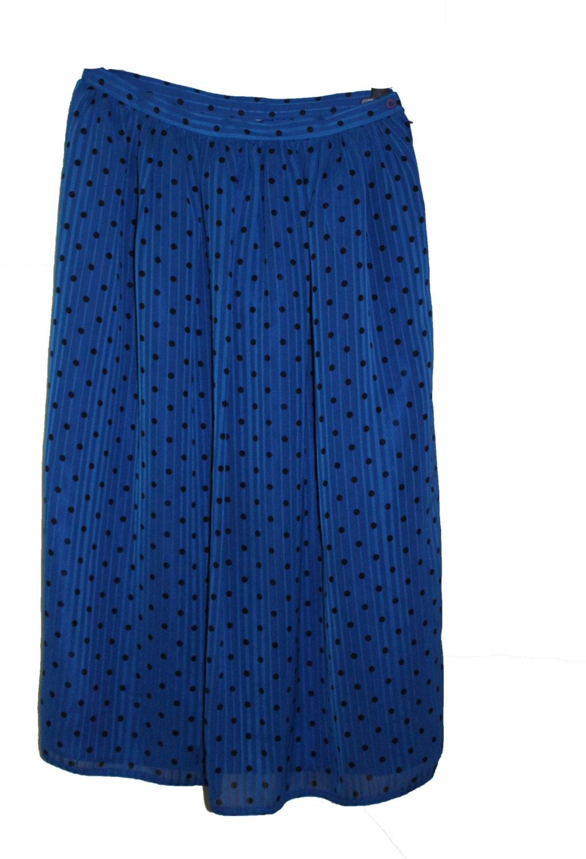 vintage polka dot skirt pleated length skirt spotted