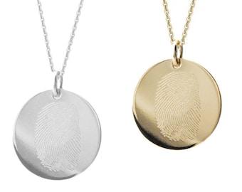 Fingerprint Necklace Etsy