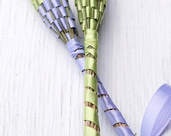 Large Organic Lavender Wand, Lavender and Light Green, Gift for Bride, add to Wedding Bouquet, Wedding Decor, Made in Canada