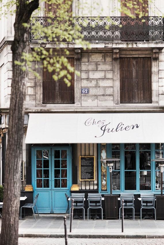 Paris Cafe Photograph Chez Julien Large Wall Art French