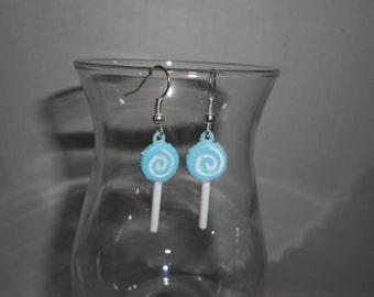 Blue Lollipop Earrings