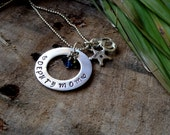 Deputy Mom Necklace, Personalized Hand Stamped Police Officer Necklace. Can Be Adjusted To Fit Deputy Mom, Trooper Mom and More