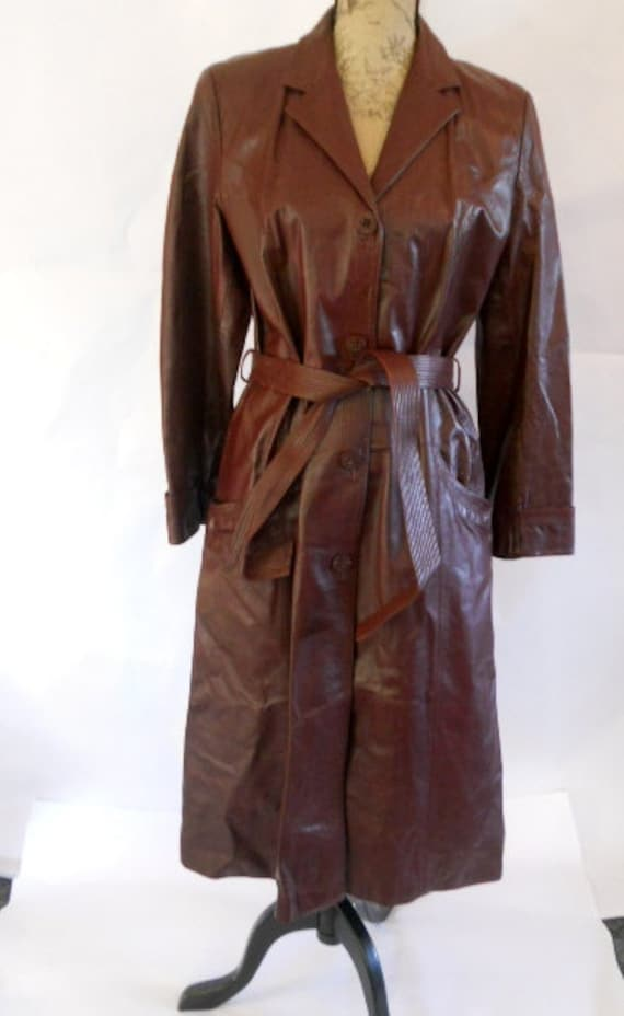 Vintage Long Leather Coat Buffy the Vampire Slayer Women's  Small Medium SALE