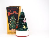 Wee Winking Miniature Christmas Tree, Holiday Decor, Musical Christmas Tree, Christmas Tree, Doll House Miniatures, Pigeon Toys,
