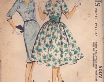 1950s Classic Dress Pattern McCalls 5002 Size 12 Uncut