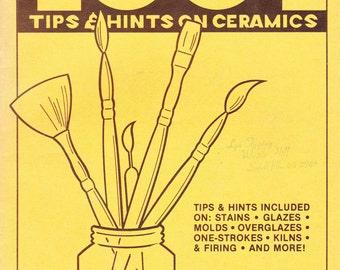 1970s Vintage Craft Magazine on 100 tips & hints on Ceramics