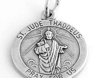Sterling Silver St. Jude Thaddeus Charm