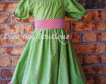 Christmas Dress - Girls Boutique Dress - Outfit of Choice - Pageant Dress - Candy Cane Dress - 3m 6m 9m 12m 18m 24m 2T 3T 4T 5 6 7 8
