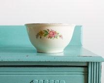 Kitchen Kraft Large Ceramic Mixing Bowl 1940s Antique