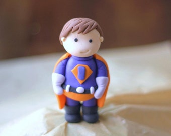 Boy fondant superhero topper. Perfect for your superhero party or any superhero celebration.