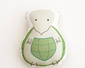 Theodore Turtle stuffed animal softie eco friendly baby children baby nursery home decor gift