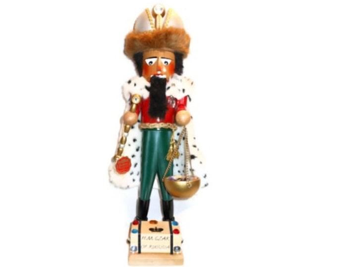 "1995 Christian Steinbach Nutcracker - H.M. Czar of Russia signed by Christian - 21"" tall"