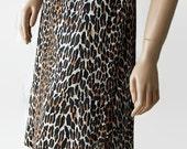 Vanity Fair Slip Leopard Print Half Slip Bow 1970s 80s